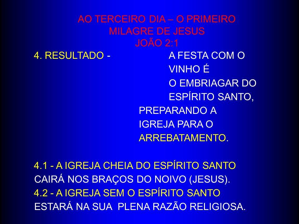 AO TERCEIRO DIA – O PRIMEIRO