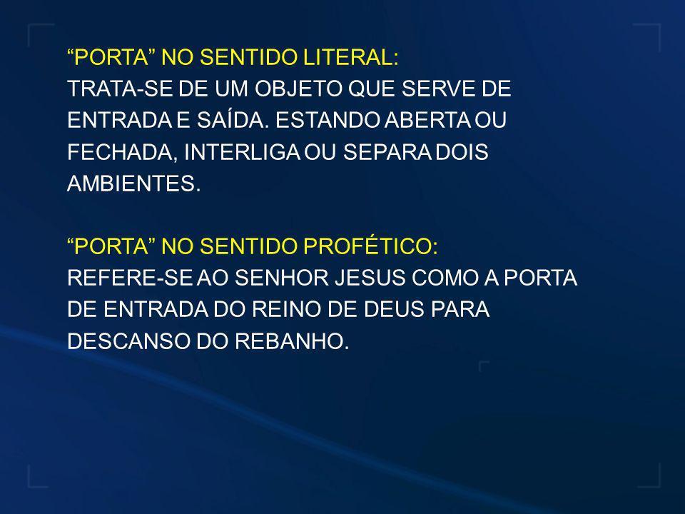 PORTA NO SENTIDO LITERAL: