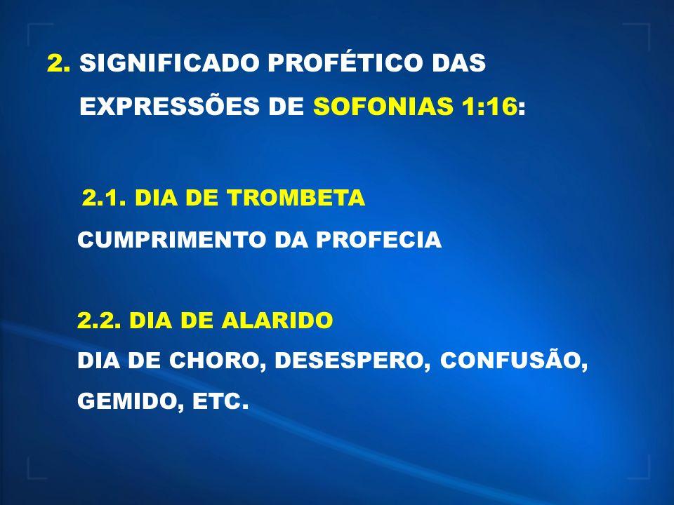 2.1. DIA DE TROMBETA 2. SIGNIFICADO PROFÉTICO DAS