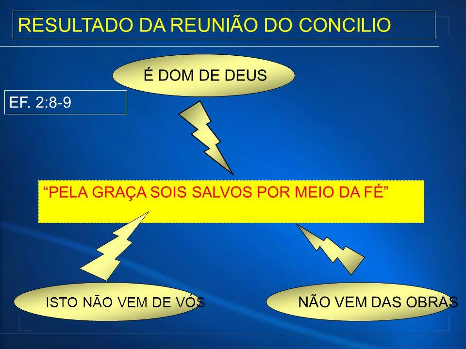 RESULTADO DA REUNIÃO DO CONCILIO