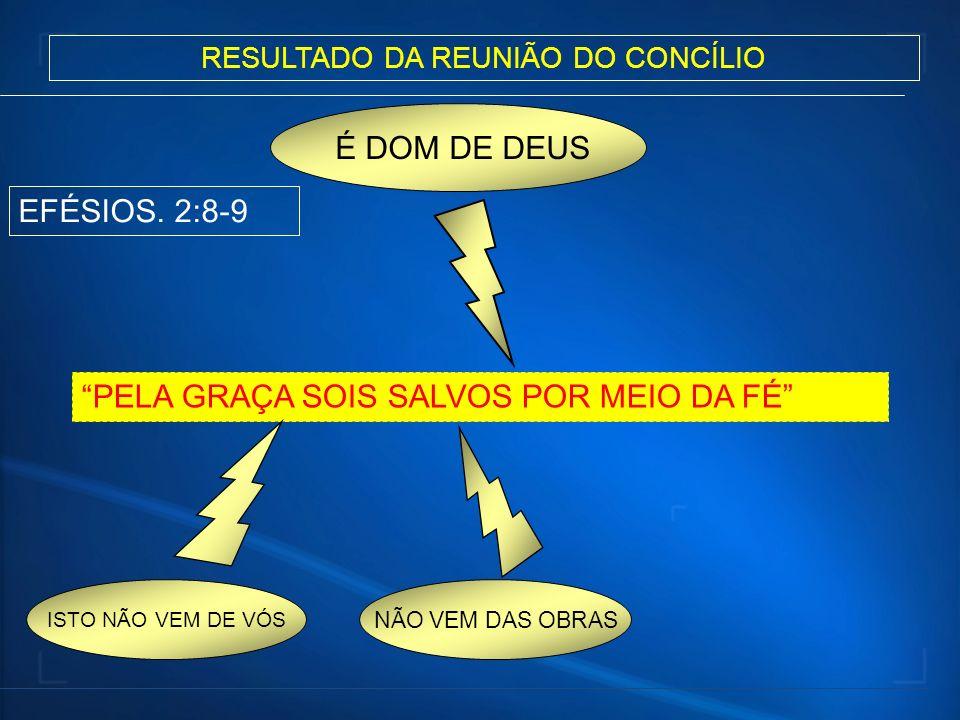 RESULTADO DA REUNIÃO DO CONCÍLIO