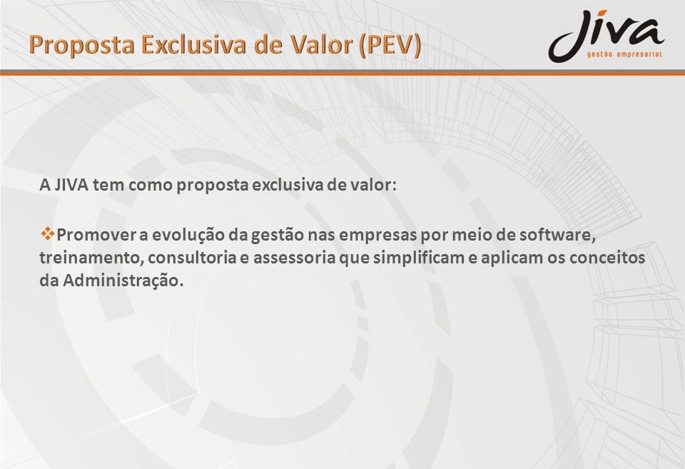 Proposta Exclusiva de Valor (PEV)