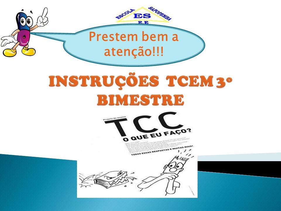 INSTRUÇÕES TCEM 3º BIMESTRE