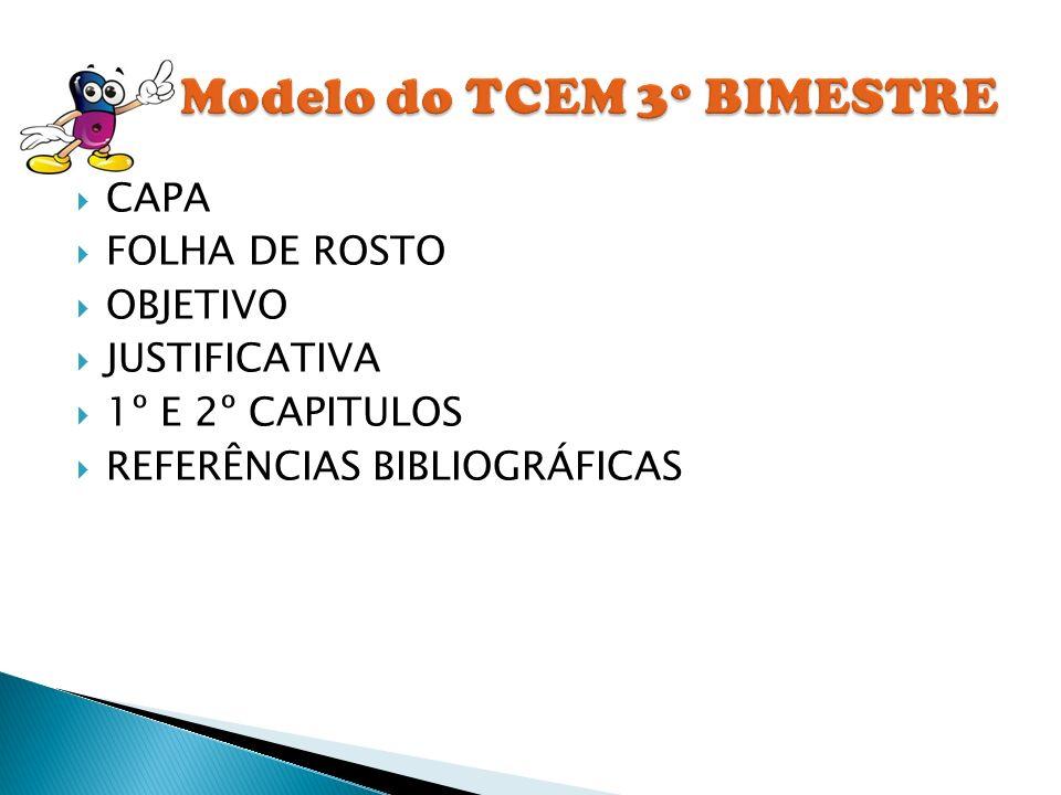 Modelo do TCEM 3º BIMESTRE