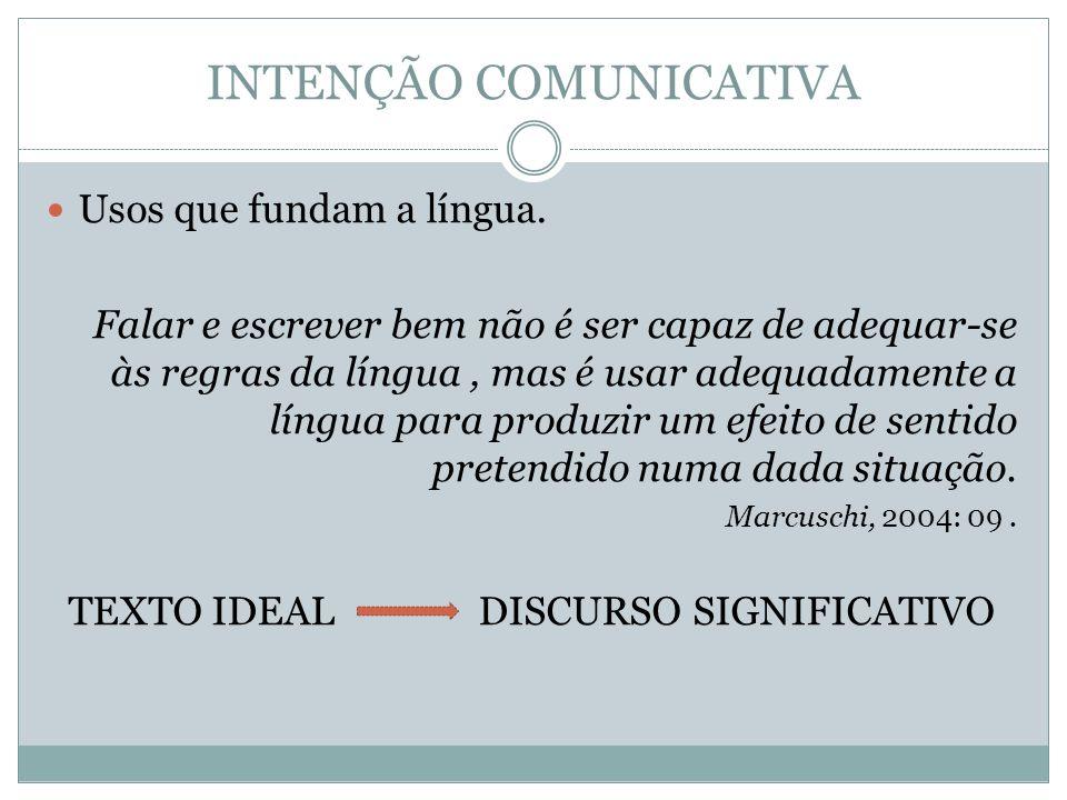 INTENÇÃO COMUNICATIVA