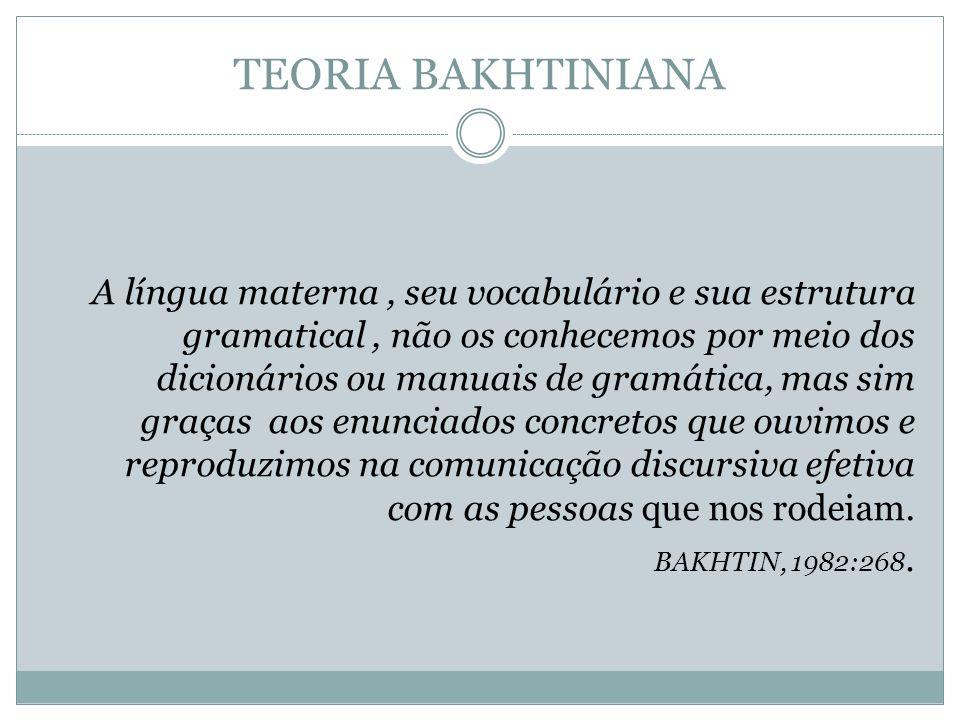 TEORIA BAKHTINIANA