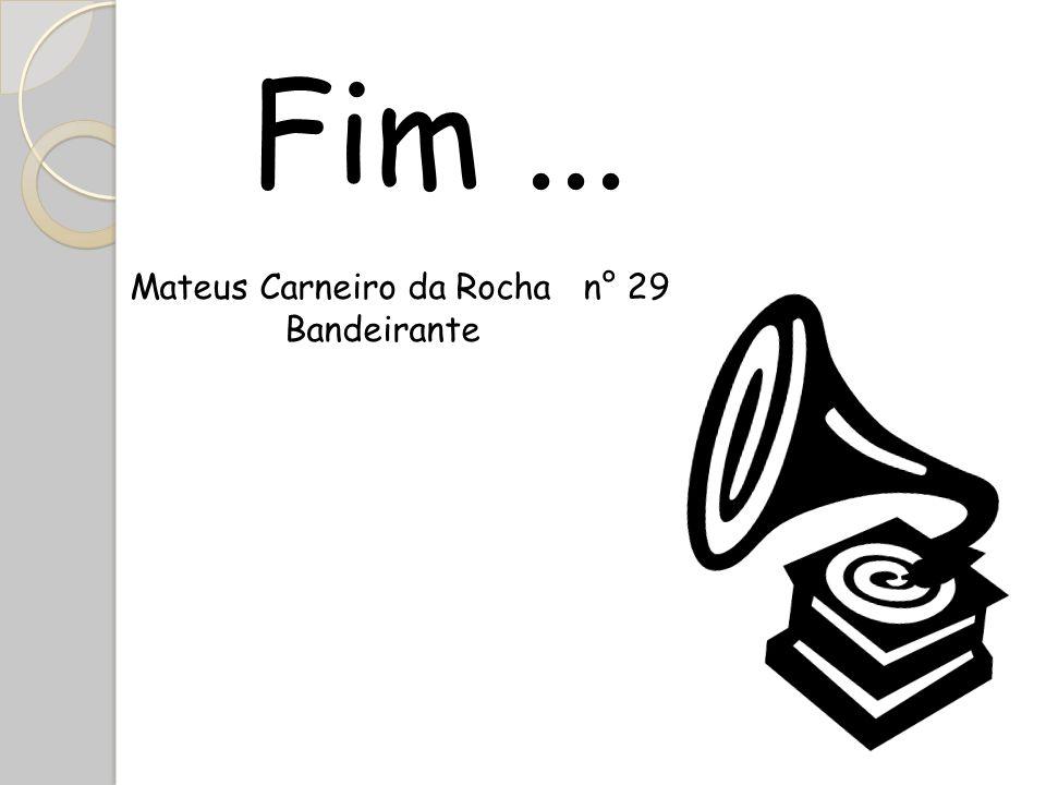 Fim ... Mateus Carneiro da Rocha n° 29 Bandeirante