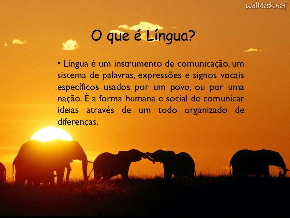 O que é Língua