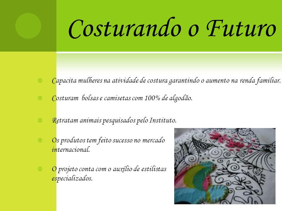 Costurando o Futuro Capacita mulheres na atividade de costura garantindo o aumento na renda familiar.