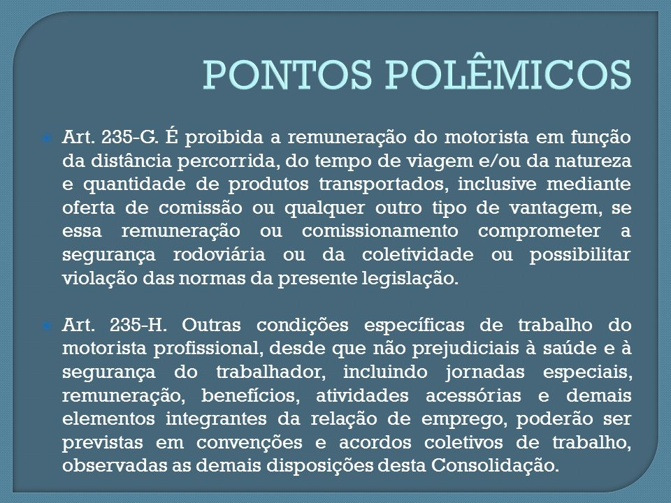 PONTOS POLÊMICOS