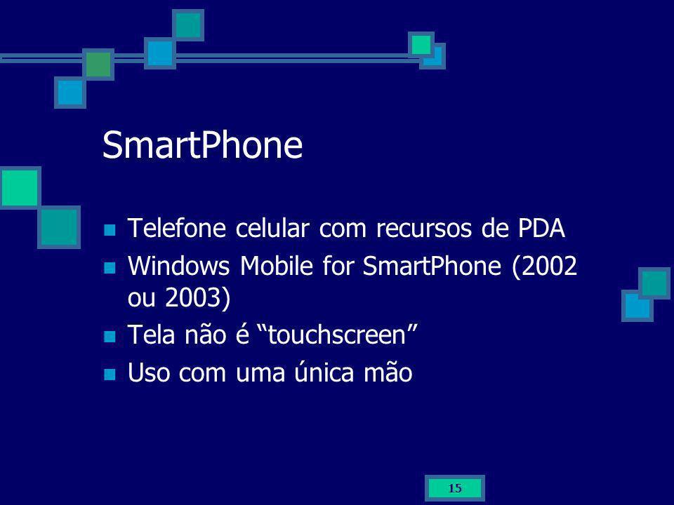 SmartPhone Telefone celular com recursos de PDA