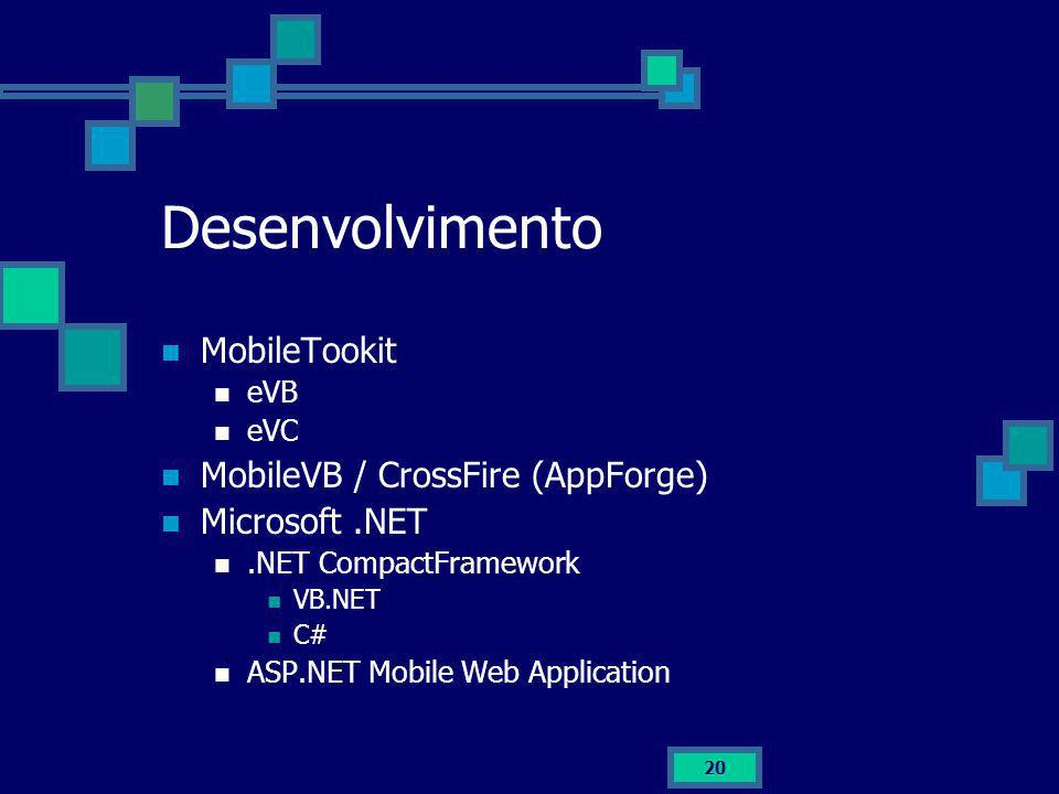 Desenvolvimento MobileTookit MobileVB / CrossFire (AppForge)