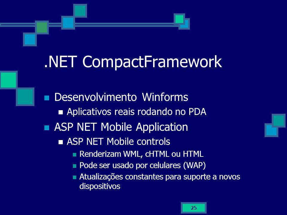 .NET CompactFramework Desenvolvimento Winforms