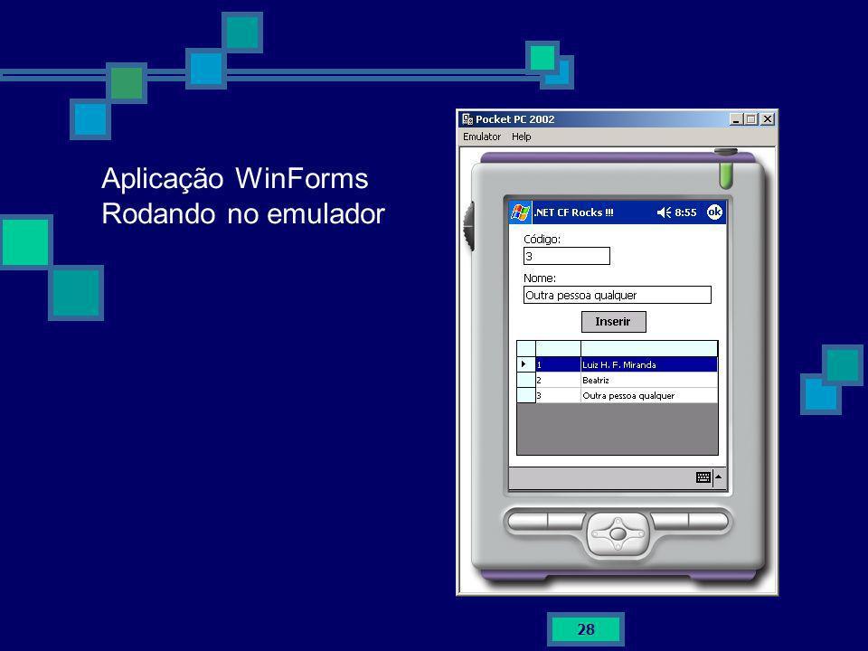 Aplicação WinForms Rodando no emulador
