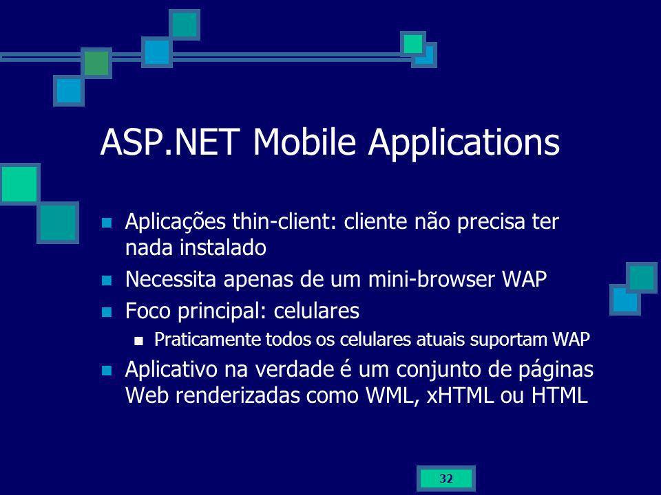 ASP.NET Mobile Applications
