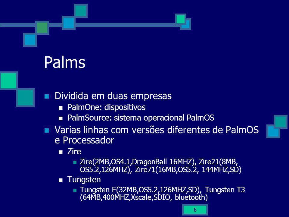 Palms Dividida em duas empresas