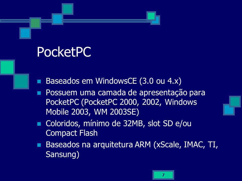 PocketPC Baseados em WindowsCE (3.0 ou 4.x)