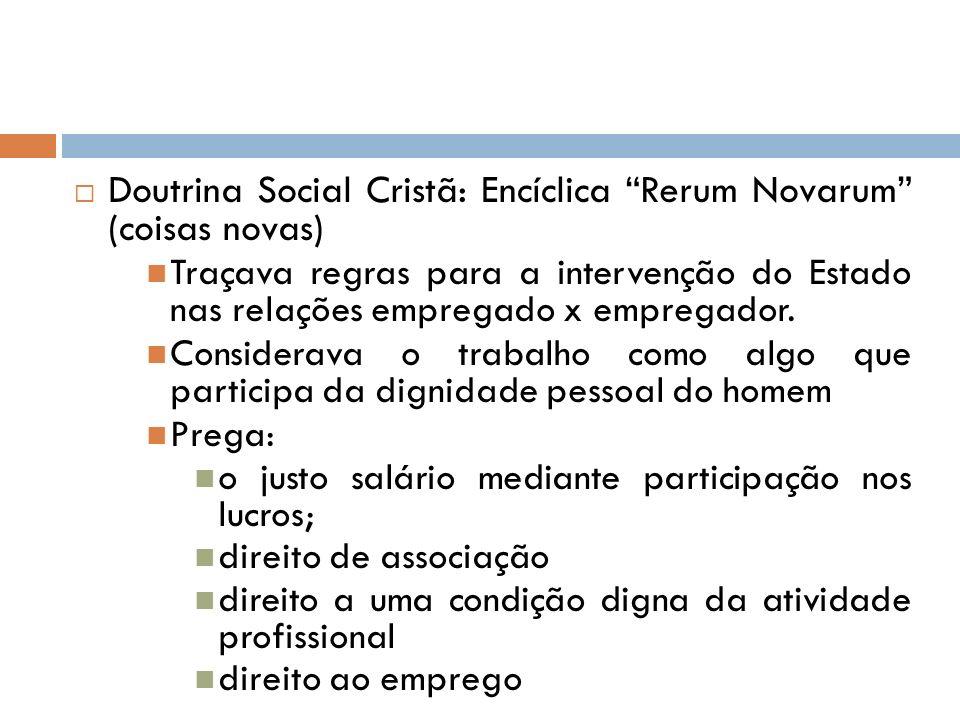 Doutrina Social Cristã: Encíclica Rerum Novarum (coisas novas)
