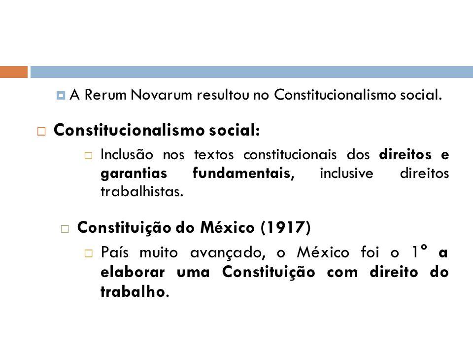 Constitucionalismo social: