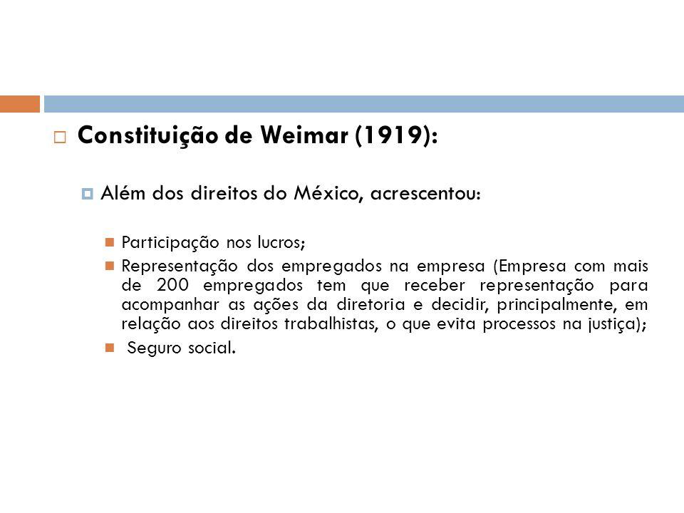 Constituição de Weimar (1919):
