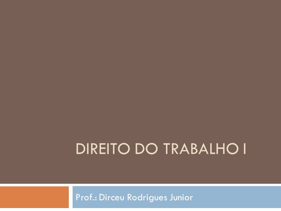Prof.: Dirceu Rodrigues Junior