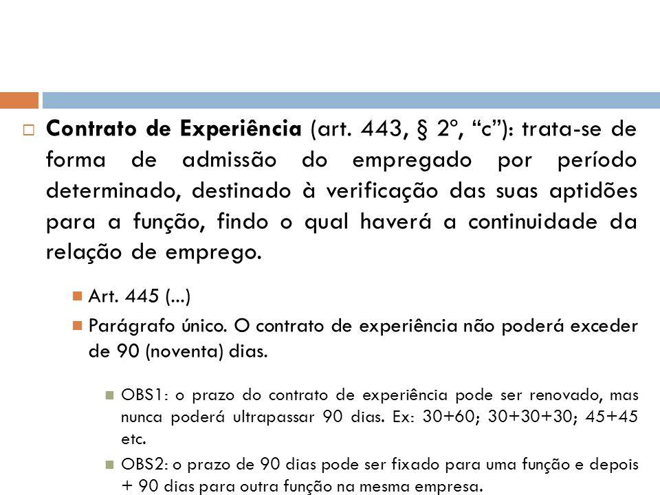 Contrato de Experiência (art