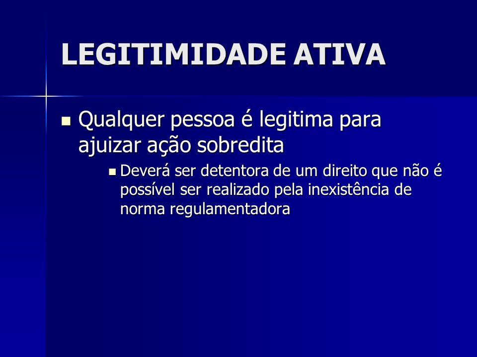 LEGITIMIDADE ATIVA Qualquer pessoa é legitima para ajuizar ação sobredita.
