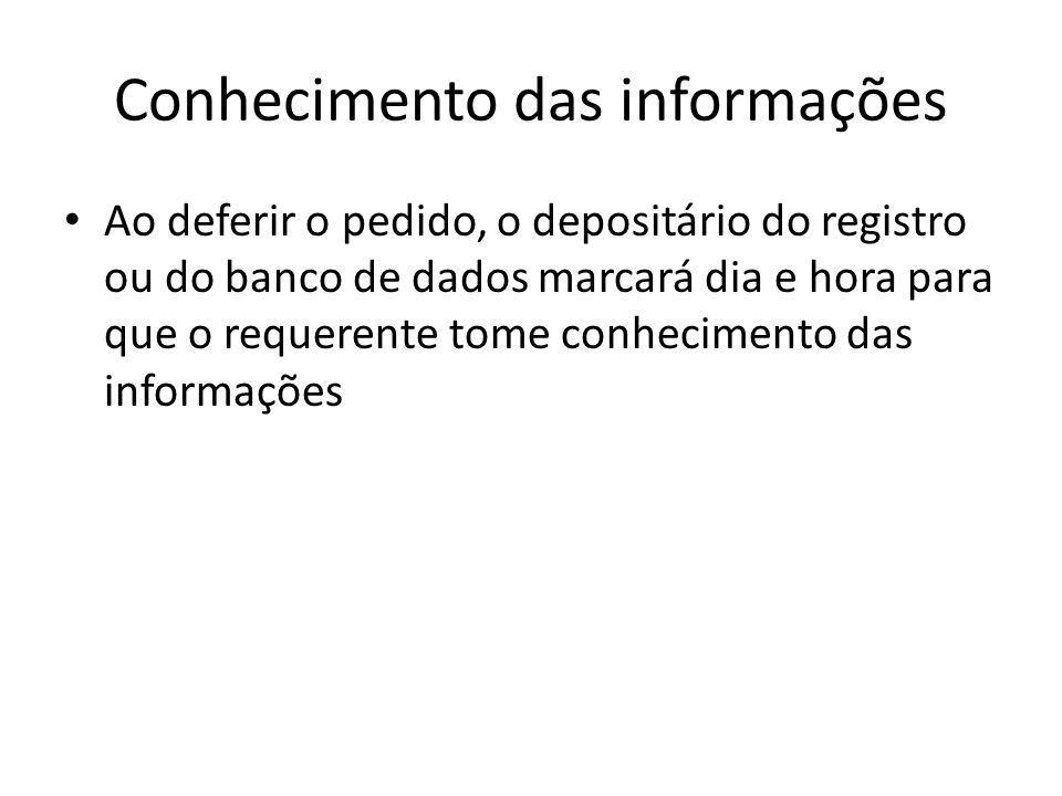 Conhecimento das informações