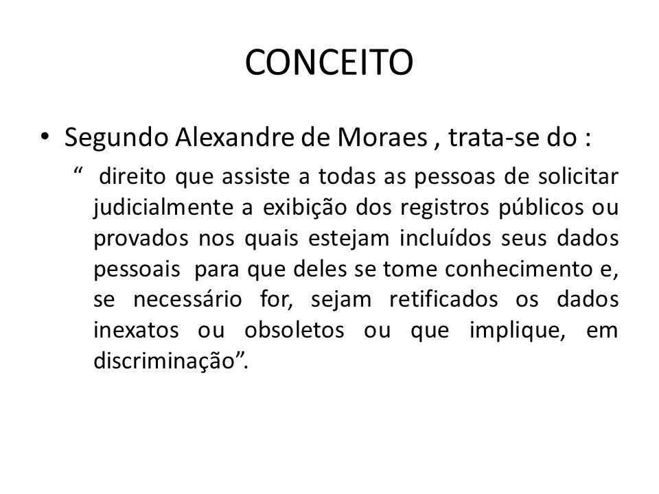 CONCEITO Segundo Alexandre de Moraes , trata-se do :