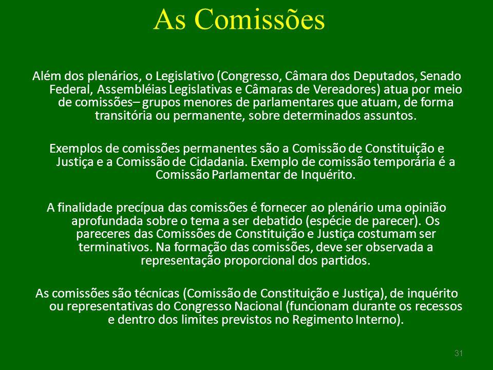 As Comissões