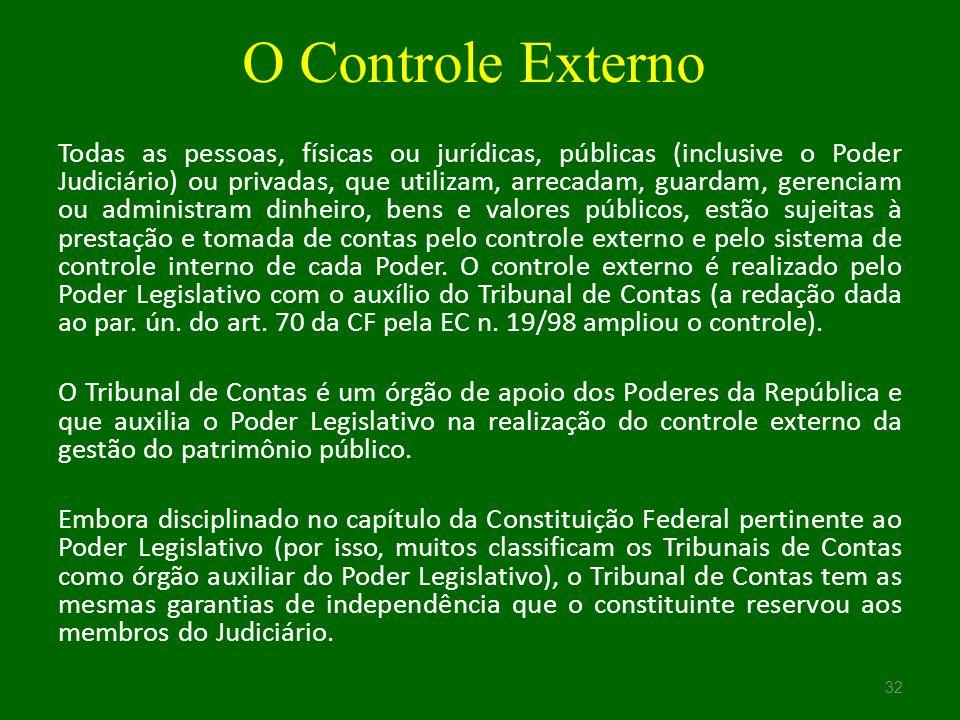 O Controle Externo