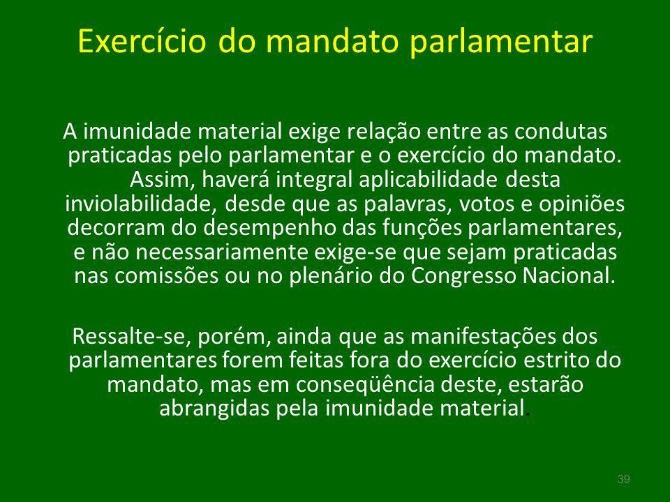 Exercício do mandato parlamentar