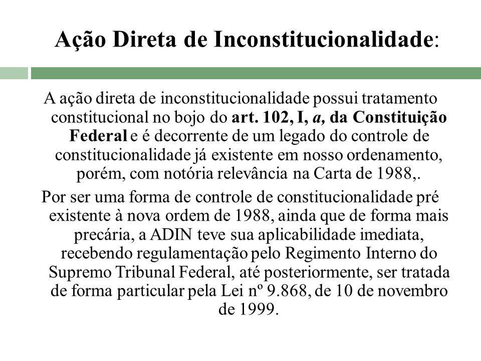 Ação Direta de Inconstitucionalidade: