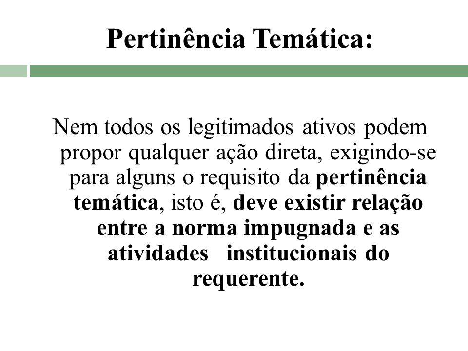 Pertinência Temática: