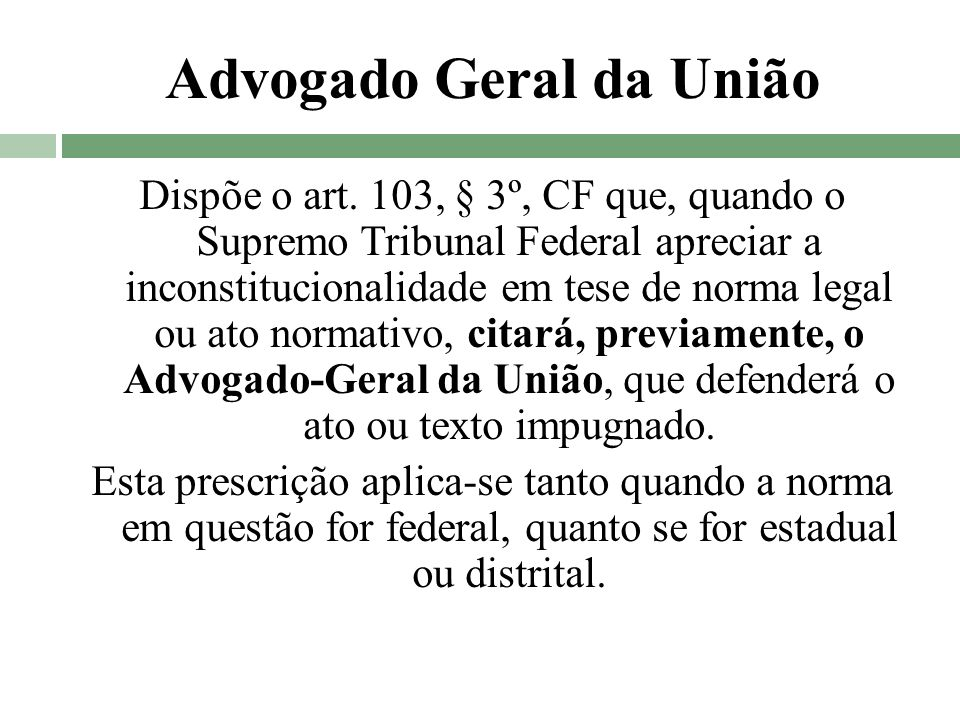 Advogado Geral da União