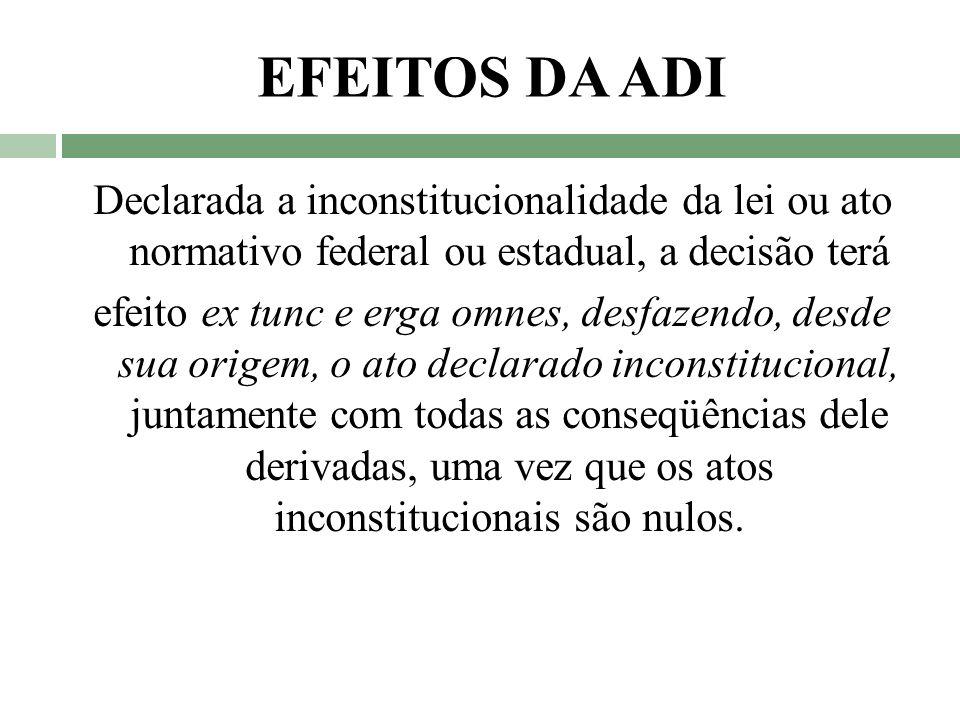 EFEITOS DA ADI