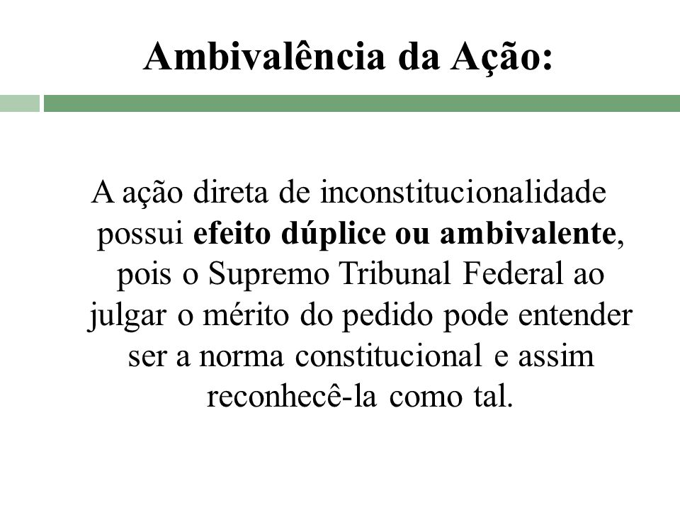 Ambivalência da Ação: