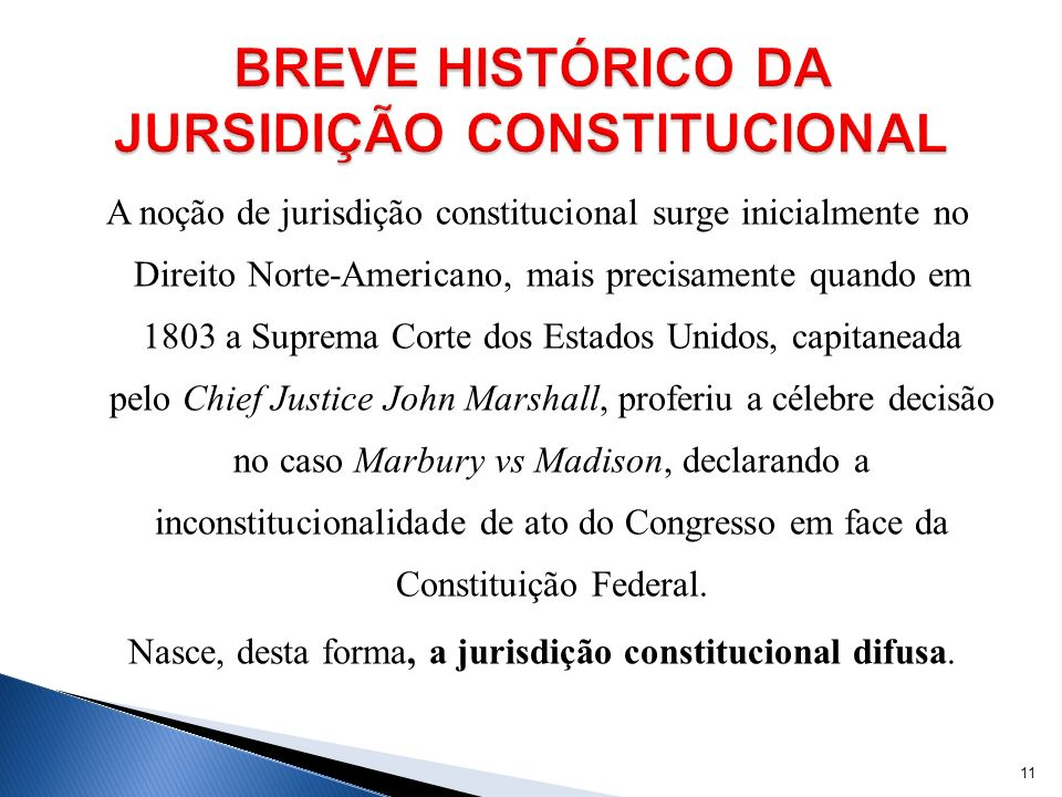 BREVE HISTÓRICO DA JURSIDIÇÃO CONSTITUCIONAL