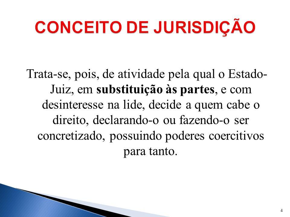 CONCEITO DE JURISDIÇÃO