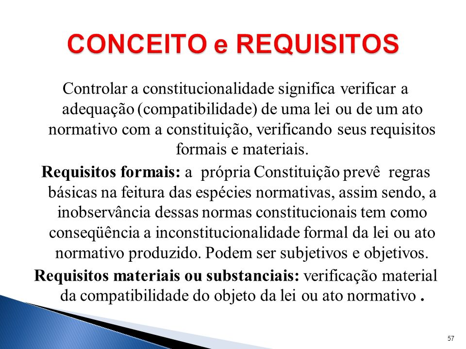 CONCEITO e REQUISITOS
