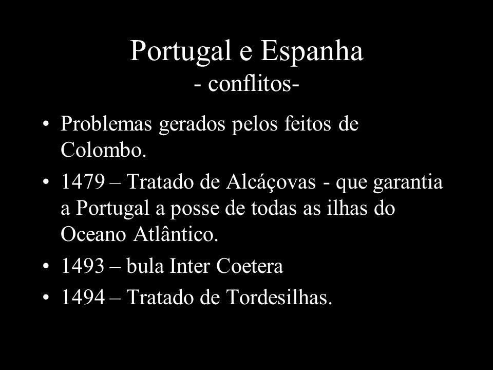 Portugal e Espanha - conflitos-