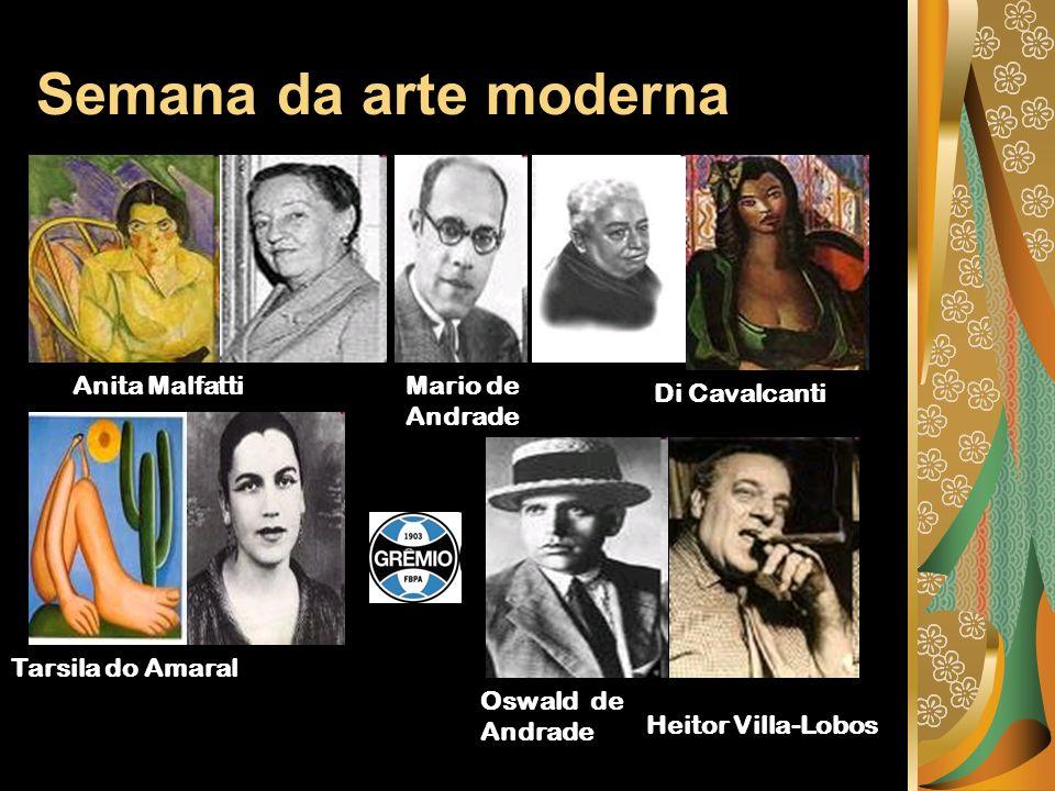 Semana da arte moderna Anita Malfatti Mario de Andrade Di Cavalcanti