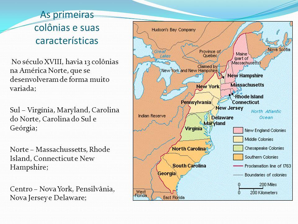 As primeiras colônias e suas características