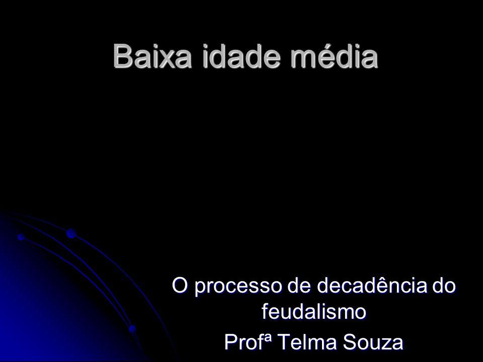 O processo de decadência do feudalismo Profª Telma Souza