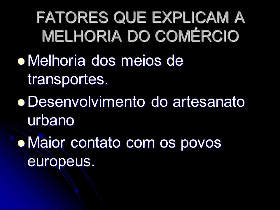 FATORES QUE EXPLICAM A MELHORIA DO COMÉRCIO