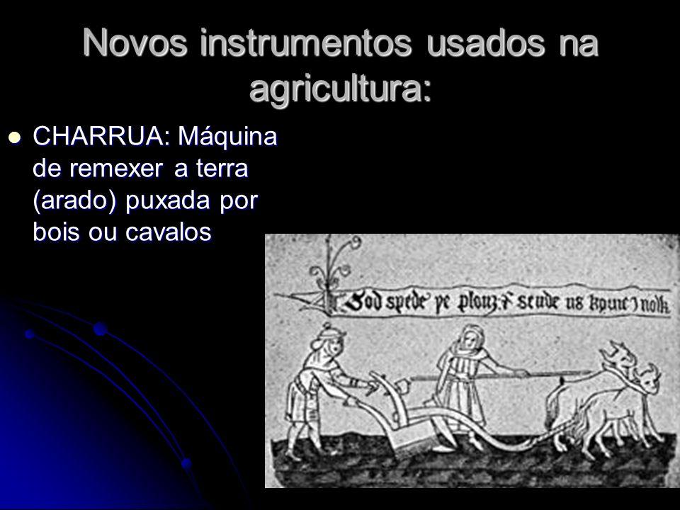 Novos instrumentos usados na agricultura: