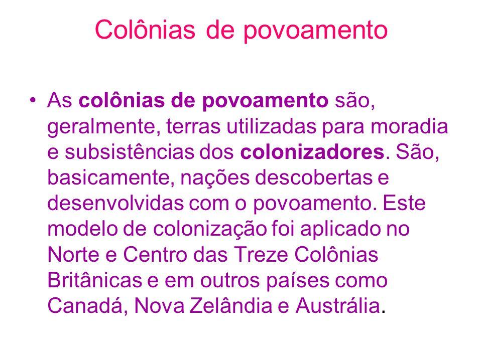 Colônias de povoamento