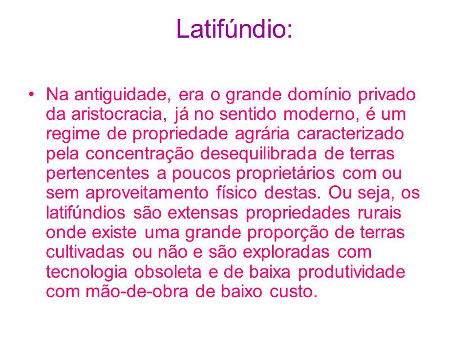 Latifúndio: