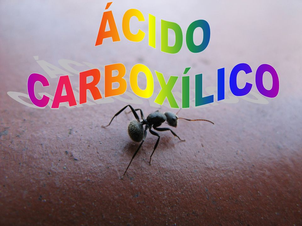 ÁCIDO CARBOXÍLICO