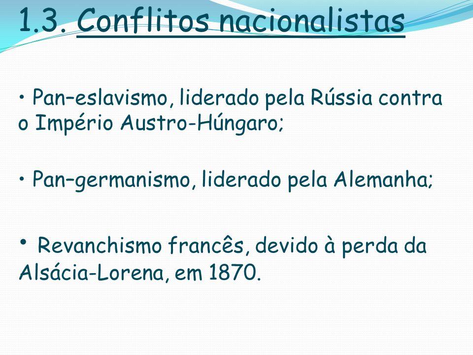 1.3. Conflitos nacionalistas